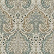 Seafoam Damask Drapery and Upholstery Fabric by Kravet