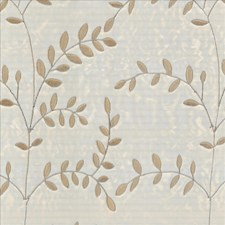 Silver Leaf Drapery and Upholstery Fabric by Kasmir