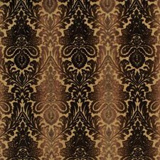 Brown Damask Drapery and Upholstery Fabric by Baker Lifestyle