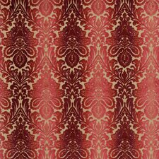 Red Damask Drapery and Upholstery Fabric by Baker Lifestyle