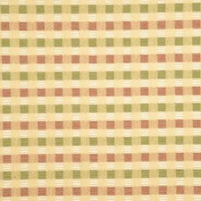 Pink/Green Check Drapery and Upholstery Fabric by Baker Lifestyle
