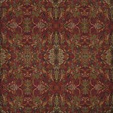 Canterbury Red Drapery and Upholstery Fabric by Ralph Lauren