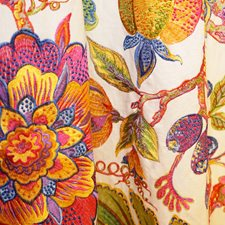 Multi/Pink Traditional Drapery and Upholstery Fabric by JF
