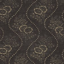 Vintage Black Drapery and Upholstery Fabric by Ralph Lauren