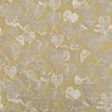 Gold Botanical Drapery and Upholstery Fabric by Mulberry Home