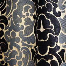 Blue/Taupe Transitional Drapery and Upholstery Fabric by JF