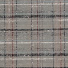 Grey/Blue/Rust Plaid Drapery and Upholstery Fabric by Kravet