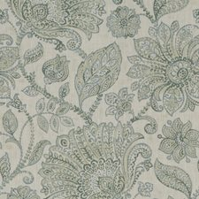 Sage/Ivory Botanical Drapery and Upholstery Fabric by Kravet