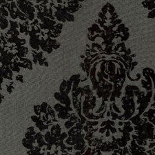 Silver Black Drapery and Upholstery Fabric by RM Coco