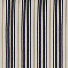 Navy Stripes Drapery and Upholstery Fabric by Baker Lifestyle