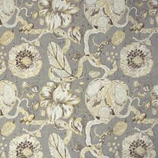 Taupe Botanical Drapery and Upholstery Fabric by Lee Jofa