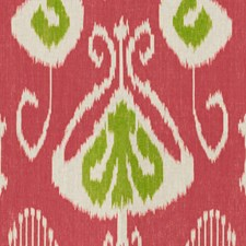 Fuchsia/Lime Ikat Drapery and Upholstery Fabric by Baker Lifestyle