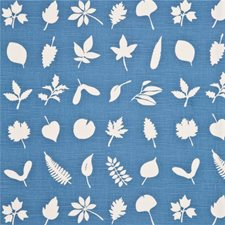 Blue Botanical Drapery and Upholstery Fabric by Baker Lifestyle