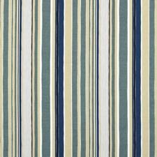 Indigo/Aqua Stripes Drapery and Upholstery Fabric by Baker Lifestyle