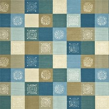 Aqua/Taupe Modern Drapery and Upholstery Fabric by Baker Lifestyle