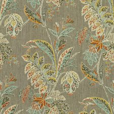 Grey/Sienna Botanical Drapery and Upholstery Fabric by Baker Lifestyle