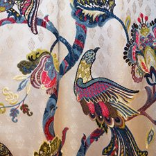 Blue/Multi Traditional Drapery and Upholstery Fabric by JF