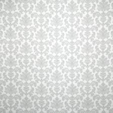 Silver Damask Drapery and Upholstery Fabric by Pindler