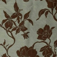 Blue Brown Drapery and Upholstery Fabric by RM Coco