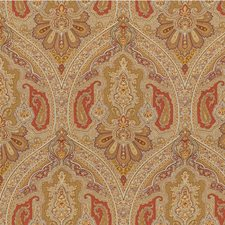 Beige/Rust/Gold Paisley Drapery and Upholstery Fabric by Kravet
