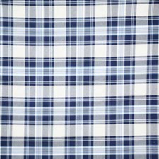Navy Check Drapery and Upholstery Fabric by Pindler