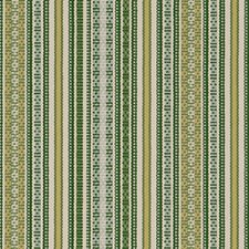 Green Stripe Drapery and Upholstery Fabric by Duralee