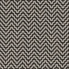 Black/Creme Herringbone Drapery and Upholstery Fabric by Duralee