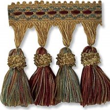 Tassel Fringe Yellow/Gold/Burgundy Trim by Kravet