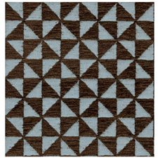 Blue/Brown Geometric Drapery and Upholstery Fabric by Lee Jofa