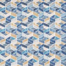 Ocean Geometric Drapery and Upholstery Fabric by Kravet