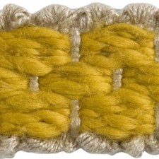 Braids Yellow/Beige Trim by Groundworks