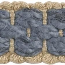 Braids Light Blue/Blue/Grey Trim by Groundworks