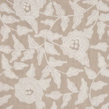 Natural/White Drapery and Upholstery Fabric by RM Coco