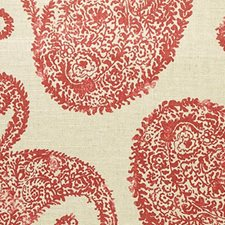 Henna Red Drapery and Upholstery Fabric by RM Coco