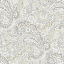 Sterling Paisley Drapery and Upholstery Fabric by Kravet
