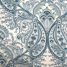 Blue/Turquoise/White Traditional Drapery and Upholstery Fabric by JF