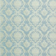 Powder Blue Damask Drapery and Upholstery Fabric by Scalamandre