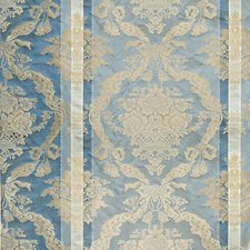 Blue Bell Damask Drapery and Upholstery Fabric by Scalamandre