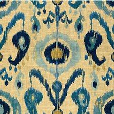 Beige/Blue/Light Blue Ethnic Drapery and Upholstery Fabric by Kravet