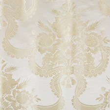 Silk Cream Damask Drapery and Upholstery Fabric by Scalamandre