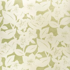 Green On Oyster Floral Wallcovering by Stroheim Wallpaper