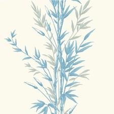 Blue On Ivory Wallcovering by Cole & Son Wallpaper