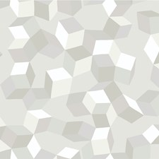 White On White Print Wallcovering by Cole & Son Wallpaper