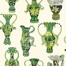 Green/White Print Wallcovering by Cole & Son