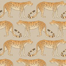 Stone/Orange Print Wallcovering by Cole & Son Wallpaper