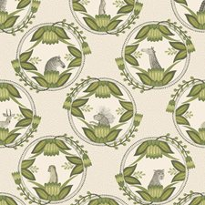 Stone/Green Print Wallcovering by Cole & Son