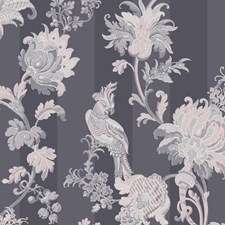 Slate Grey/Blush Pink Print Wallcovering by Cole & Son Wallpaper