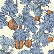 Hyacinth/Orange Print Wallcovering by Cole & Son Wallpaper