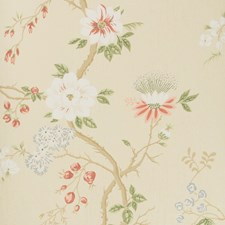 Coral/Sage/Butterc Print Wallcovering by Cole & Son Wallpaper