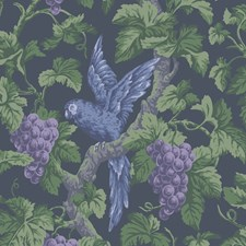 Viol/Ink Botanical Wallcovering by Cole & Son Wallpaper